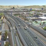 Proposed freeway over Sutro Street through Identified Preferred Alternative